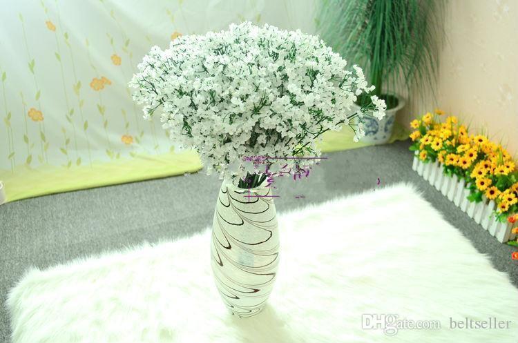 60 Adet Yeni Varış Kumaş Gypsophila Bebek Nefes Ev Dekorasyon Için Yapay Ipek Çiçekler Düğün Dekorasyon Ucuz Satış