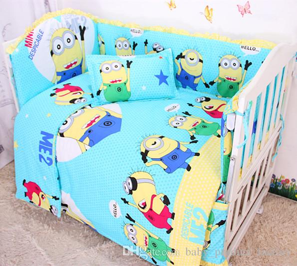 Promotion! crib bedding set bed linen baby bedding set bumpers+sheet+pillow cover