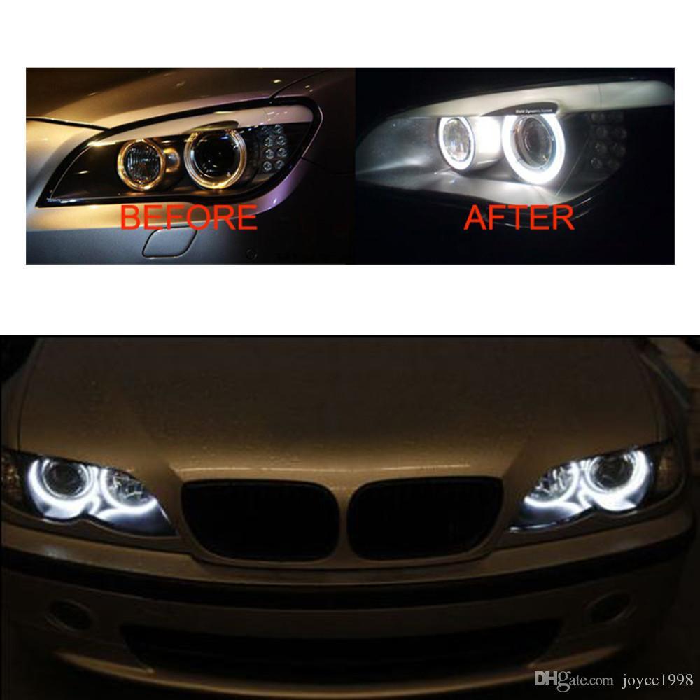 는 12v 6000k 3W 6W 천사 눈을지도했다 BMW E39 E60 E61 E63 E63 E64 E65 E66 X5를위한 감적 빛 램프 전구를지도했다