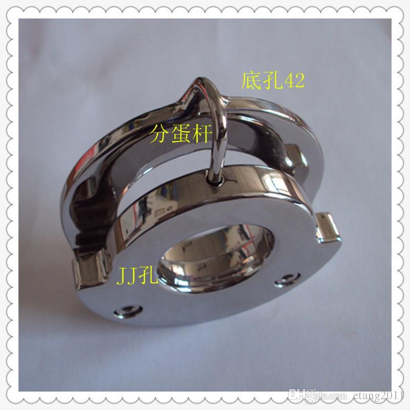 Ultime progettazione Dispositivi di Bondage Maschile Acciaio inossidabile Giocattoli del sesso gli uomini Cintura di castità Anelli del pene BDSM SM