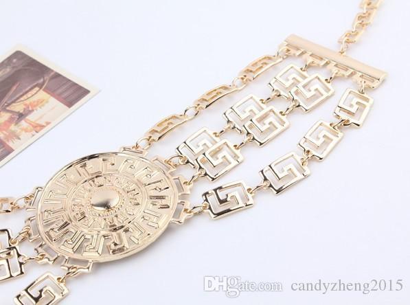 Europa Edle Schmuck Metall Rough Kette Halskette Galvanik für Party / Roter Teppich / Gathering Hot Selling
