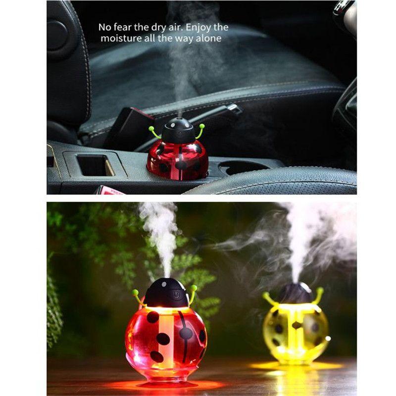 Nouvelle voiture humidificateur coléoptère voiture nettoyage de l'air de l'air charge mini bouteille d'eau portable humidificateur de véhicule à vapeur atp221