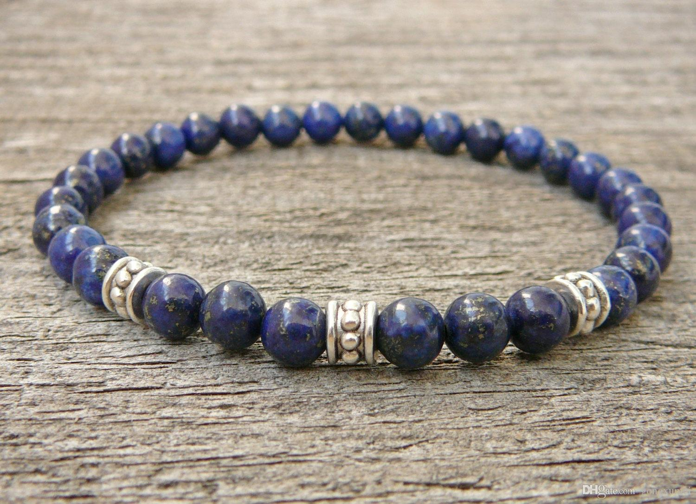 Lapis Lazuli Bracelet, Womens or Mens Bracelet, Natural Gemstone Stretch Bracelet, Tigers Eye, Beaded Jewelry, Women bracelet, Men Bracelet