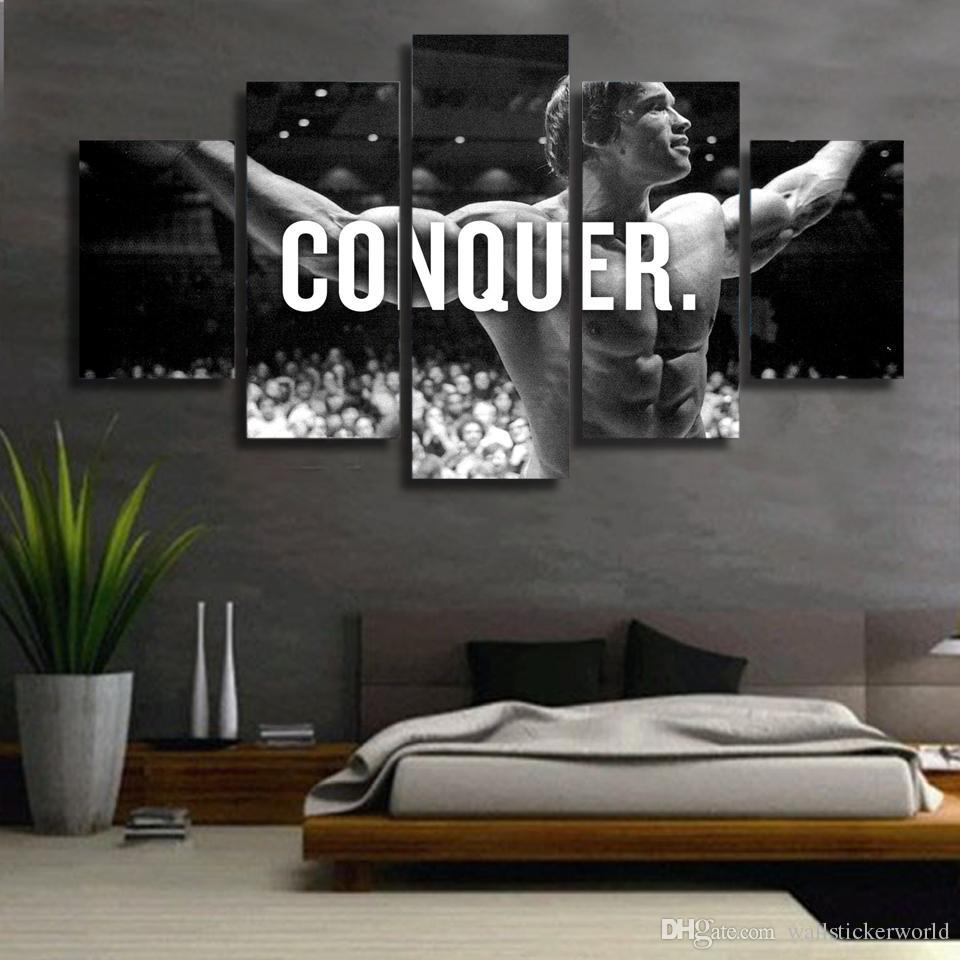 5 Adet / takım Çerçeveli Baskılı adsız boks karakter Baskı odası dekor baskı posteri resim tuval Ücretsiz nakliye / ny-4902