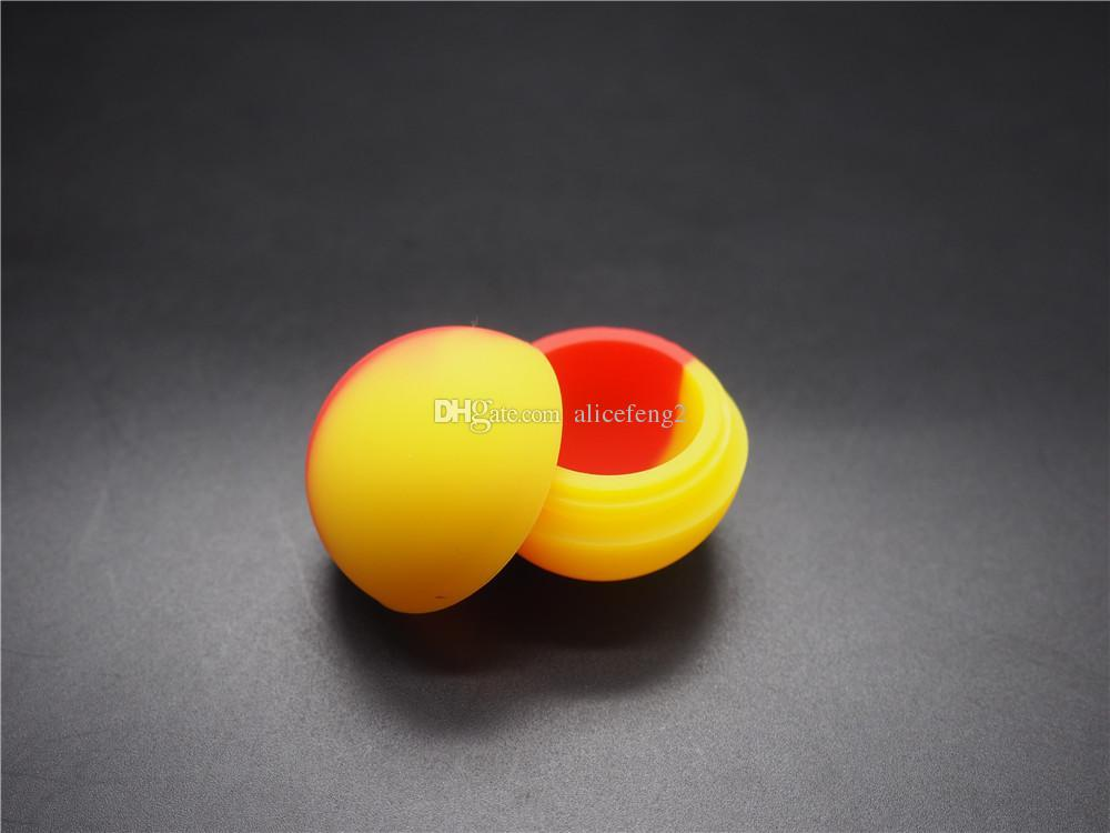 1000X Zatwierdzona jakość Non Stick Silikonowe słoiki DAB Wax Containerbutane Hash Silikonowy pojemnik na sprzedaż 5,6 ml różnorodnego koloru
