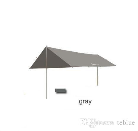 Sun Shelter Tent Waterproof Awning Hiking Portable Canopy Outdoor Gazebo Camping Tent 4*3m Big Size Coating Tarp Tent