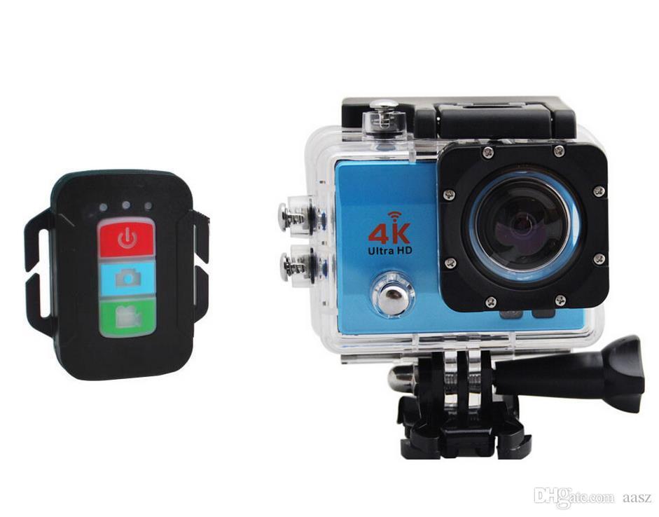 10PCS Action Cam 4k New 2018 Full HD Cam Action Camera Remote Control 4k  Ultra HD Sport Camera Allwinner Q3H-1 Multicolor