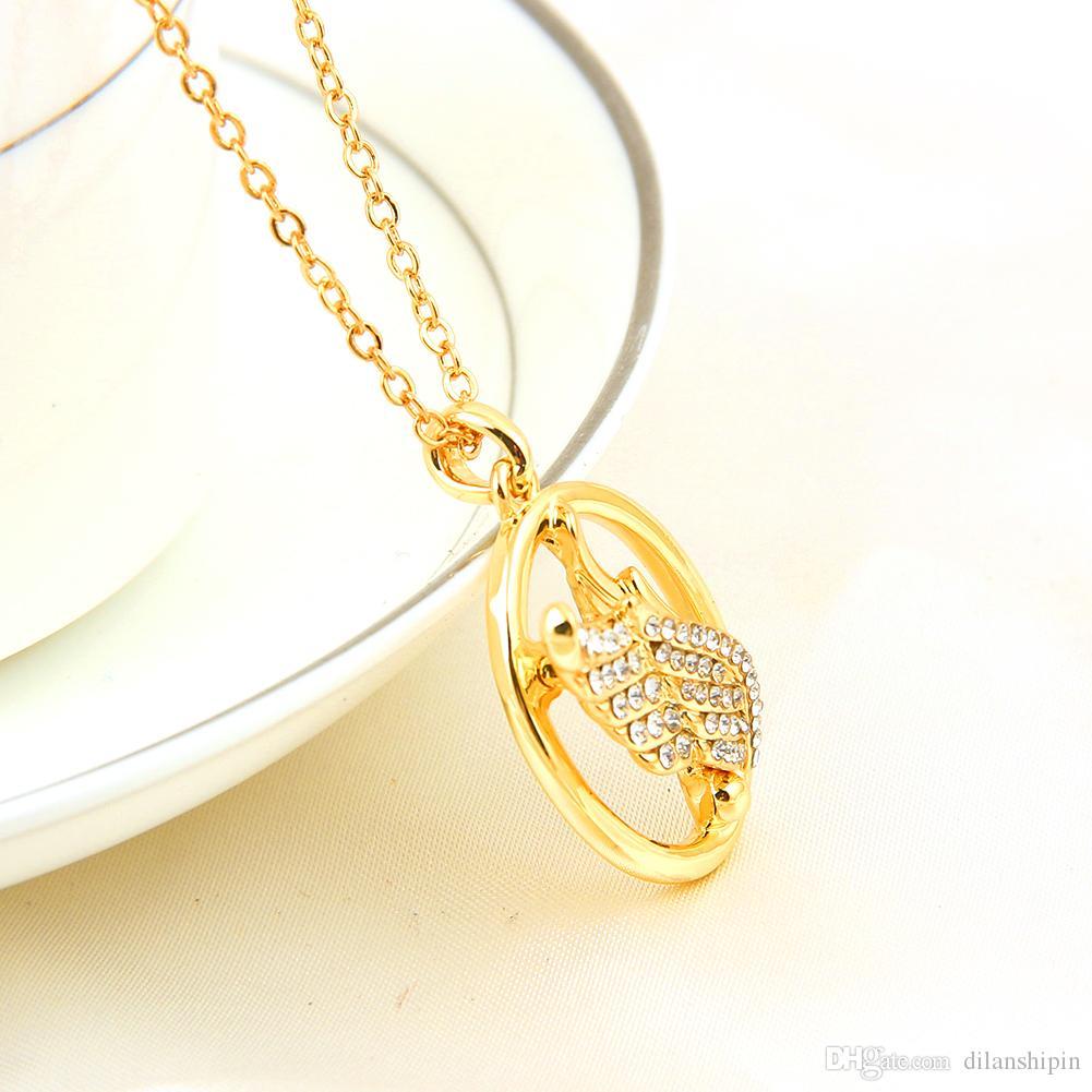 Ciondoli di cristallo austriaco delle donne di cristallo austriache placcate oro 18k