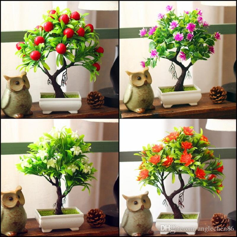 2018 wholesale artificial plants bonsai for home decoration 2018 wholesale artificial plants bonsai for home decoration artificial plastic trees pots artificial potted flower cheap small bonsai with vase from mightylinksfo