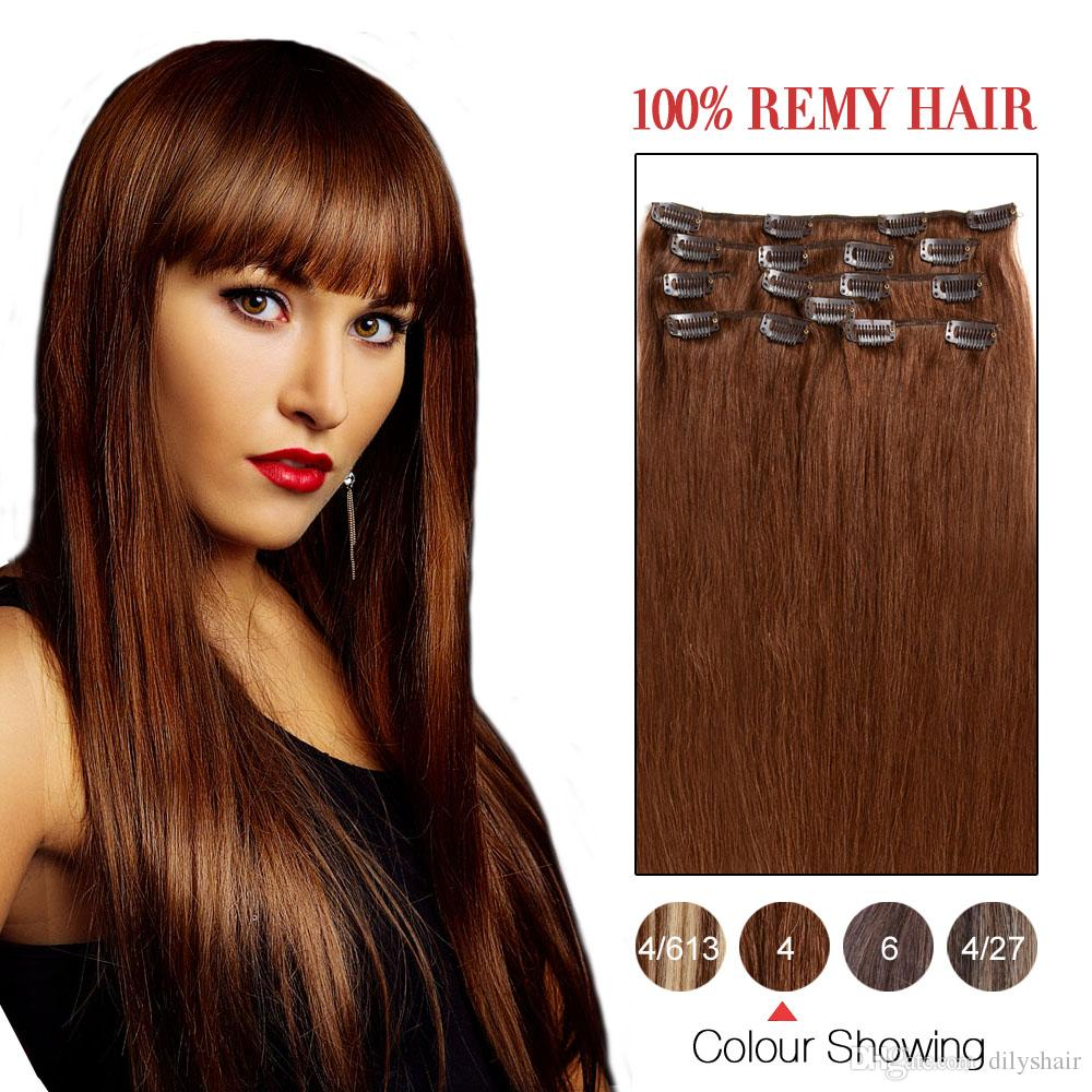 Bhf Clip In On Indian Hair Clip In Human Hair Extensions Silky