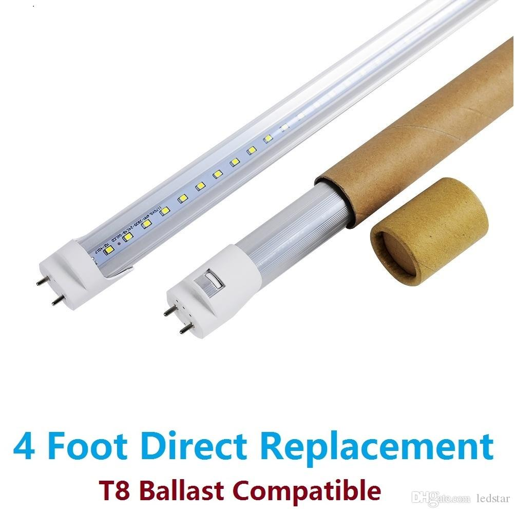 Ballast Compatible T8 Led Tubes 4ft 1200mm Tube Lights 18w Warm Wiring A 4 Bulb Cold White Replacing 40w Fluorescent Light Ac85 265v Ce Ul 120cm
