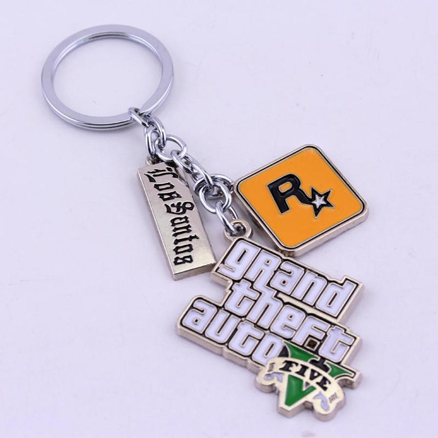 Compre Juego Ps4 Gta 5 Llavero Grand Theft Auto 5 Llaveros Para