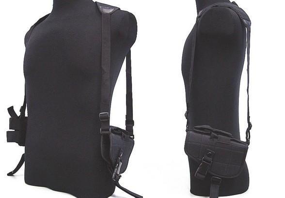 Réglable en plein air anti-vol caché sous le bras harnais tactique téléphone pistolet en nylon épaule holster sac à aisselles pour pistolet