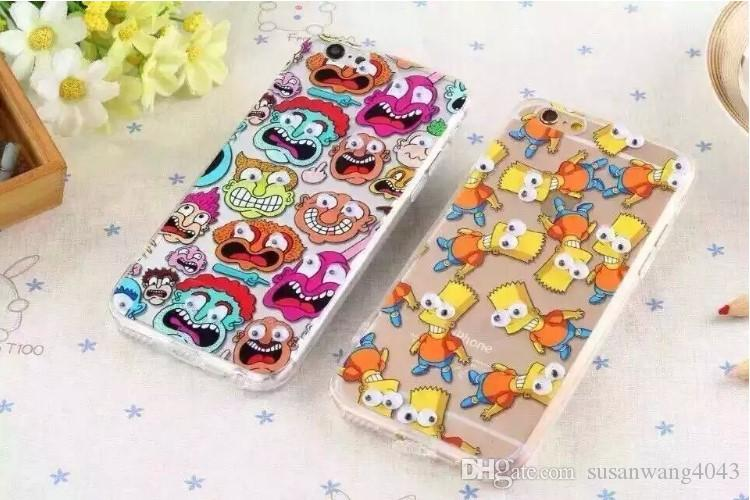 mobile accessories for iphone 6 6s plus 5s acrylic +TPU clear case cartoon design protector cover case 3D eyes GSZ049
