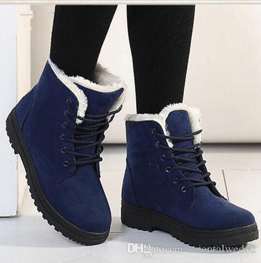 Women men boots Botas femininas 2016 new arrival winter boots warm snow  boots fashion platform ankle 4a289bafb33