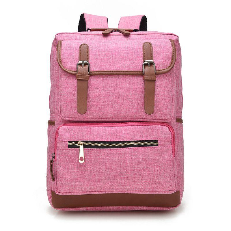 a1a3ba1b29 Vintage Fashion Women Backpack Bag High School Flap Boys Girls Schoolbag  KOREA Shoulder Bag Pink Wholesale Backpacks For Men Jansport Big Student  Backpack ...