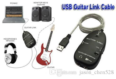Usb guitar link cable Electric Guitar to USB Interface Audio Link Cable Guitar Accessories For MAC/PC MP3 Recording XP guitar cover