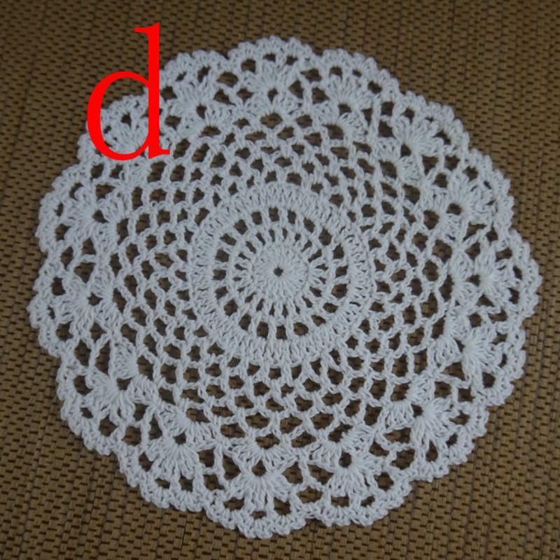 wholesale 100% cotton lace hand made Crochet Doilies cup mat Round Doily 18-20cm an3h61