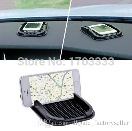 New Black Car Dashboard Sticky Pad Mat Anti Non Slip Gadget Mobile Phone GPS Holder Interior Item Accessories