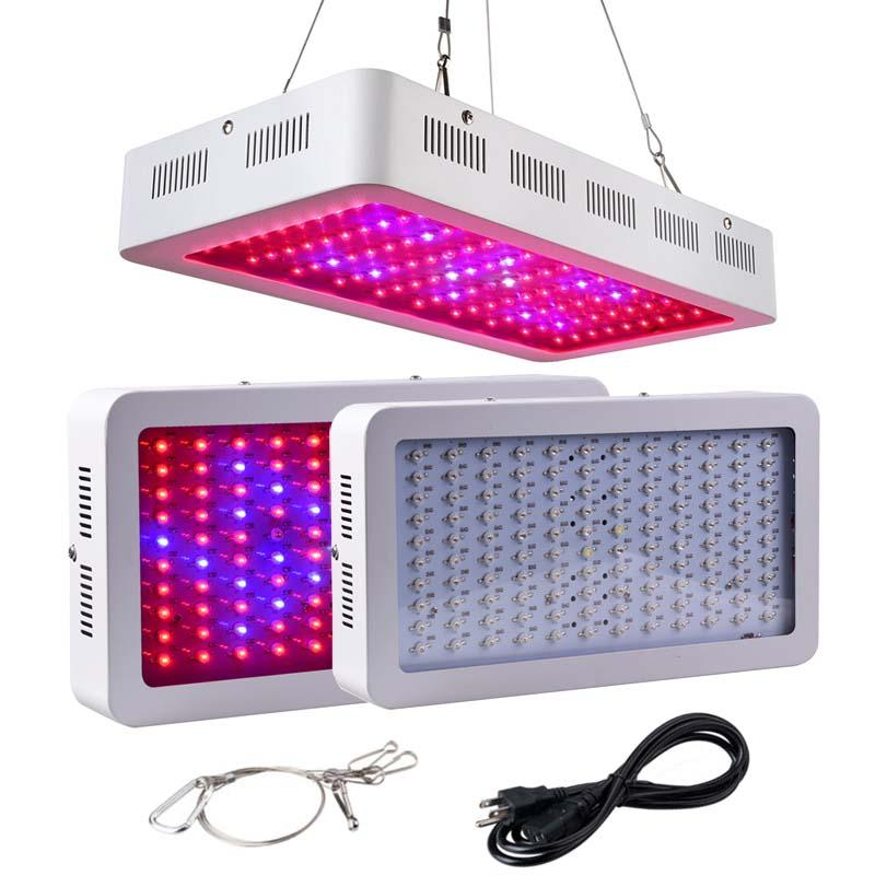 LED Grow Light 1200W Morsen Full Spectrum Growing Lamp Double-Chips 10W LED  Indoor Plant Lamp For Greenhouse Hydroponic Vegetables