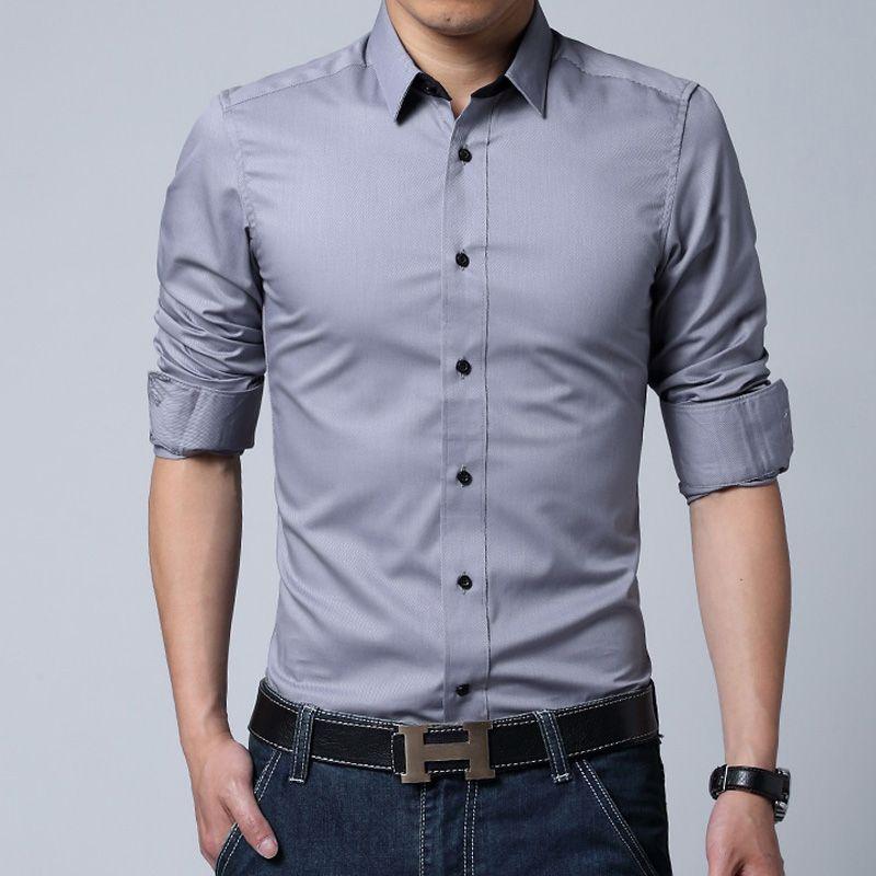 Hot Fashion Men/'s Causal Long Sleeve Slim Fit Shirts Stylish Dress 5 Color