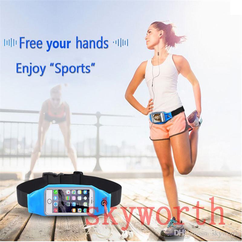 adac664cd Compre Esporte Correndo Cintura Para Iphone 6 6 S Plus Impermeável Saco Da  Correia Da Cintura Bolsa Samsung Galaxy S5 S6 S7 Borda Além De Toque Da  Janela Do ...