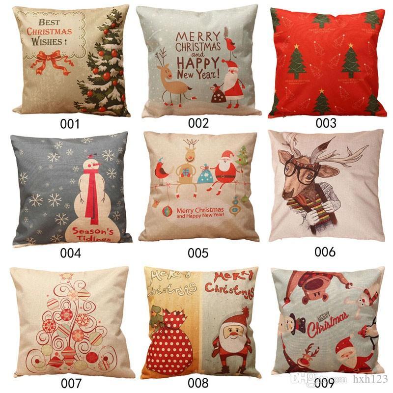 Pillow Cover Linen Blend Pillows Of Christmas Throw Home