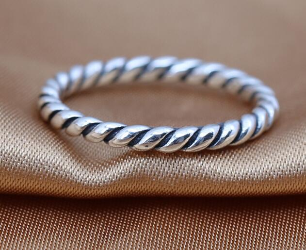 Alta qualidade NEW 100% Authentic 925 sterling silver rings estilo vintage mulheres DIY encantos se encaixa para pandora jóias atacado frete grátis