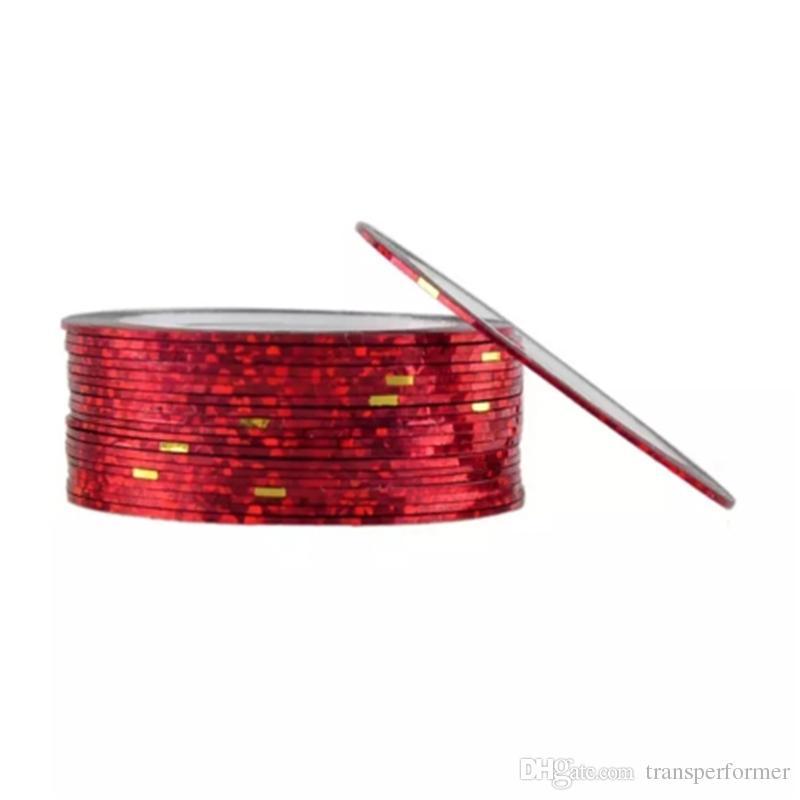 13 Cor Rolls Striping Linha Tape Nail Art Decoração Etiqueta Multi Cores Nail Art Nails Padrões Destaque Prego Wraps Etiqueta 2017081803