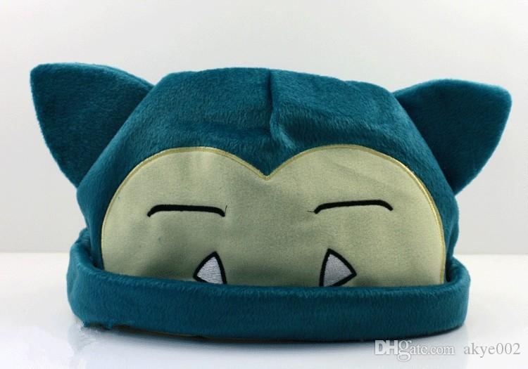 Hot Sale New Pikachu Cute Snorlax Plush Beanies Cosplay Hat 20cm For Best kids Gifts A001