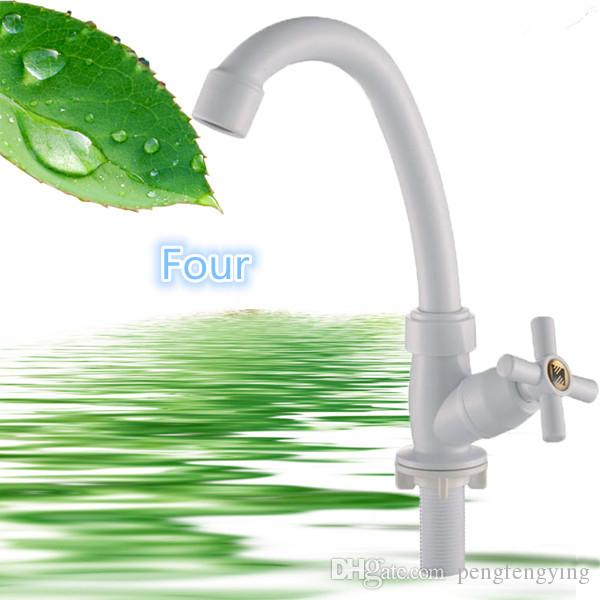 ABS Plastic Porcelain White Single Handle Dishes Basin Sink, Toilet Faucet Modern Kitchens Design Water Tap Direct Selling