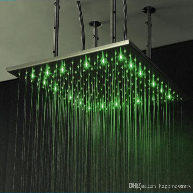 2018 Modern Water Power Led Shower Head With Arm Colorful Led Lamp ...