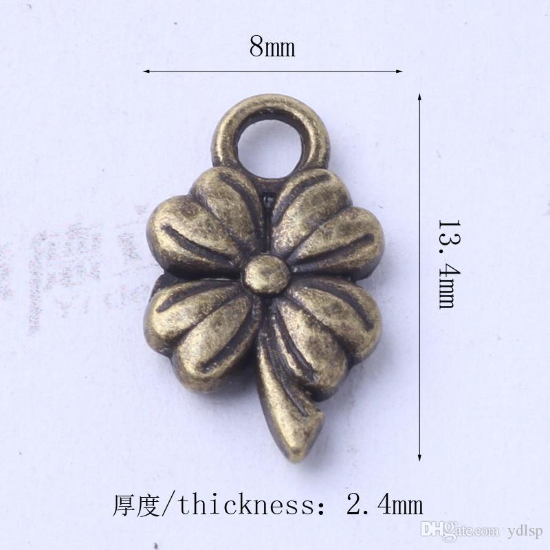 Encantos de flores fit Pulseiras ou Colar de prata antiga / pingentes de bronze DIY jóias liga 1000 pçs / lote 3038z