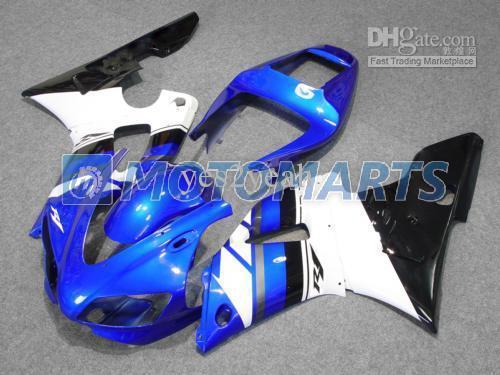 Fashion blue white blk Fairing for 1998 1999 YAMAHA YZF-R1 98-99 YZF1000 R1 YZFR1 98 99 1998-1999