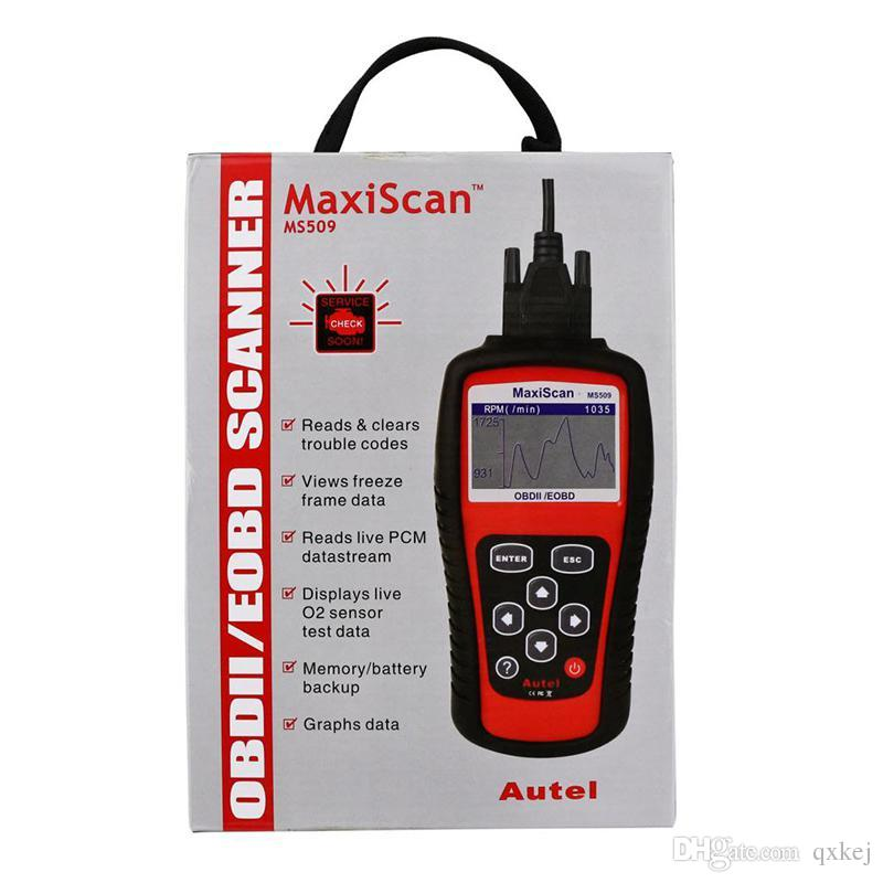 MaxiScan Diagnostic Tool MS509 Autel OBDII OBD2 EOBD Automotive Code Reader Scanner Work For US Asian European Car