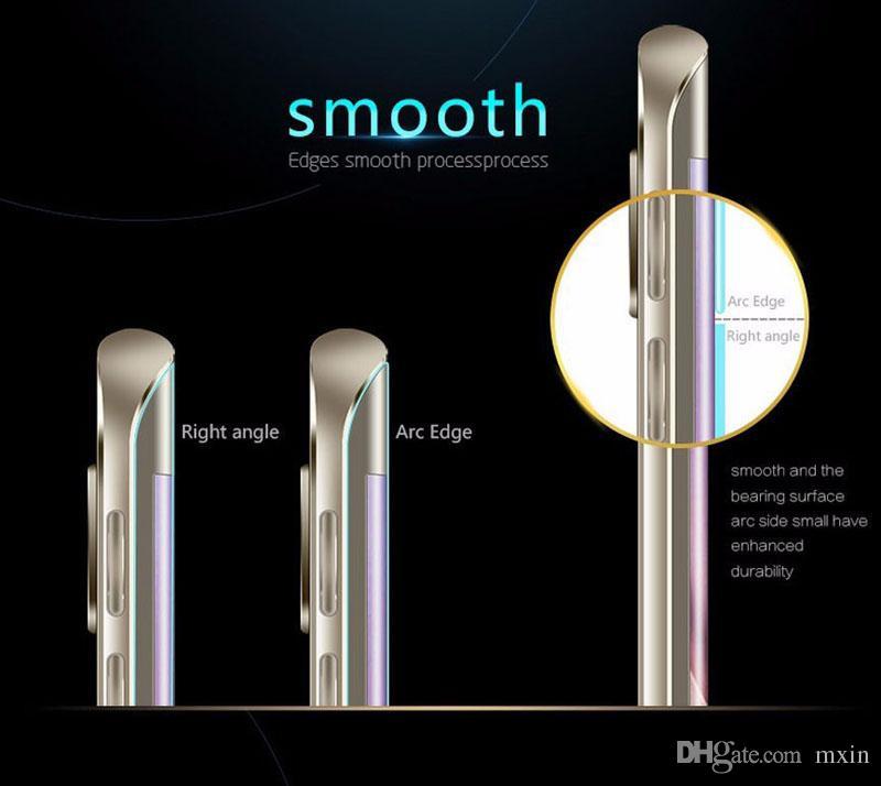 3D voller Abdeckung gebogener weicher TPU Anti-Shock hoher freier PET-Schirm-Schutz für iPhone X 8 7 6 6S Samsung S6 S7 S8 plus Anmerkung Note8