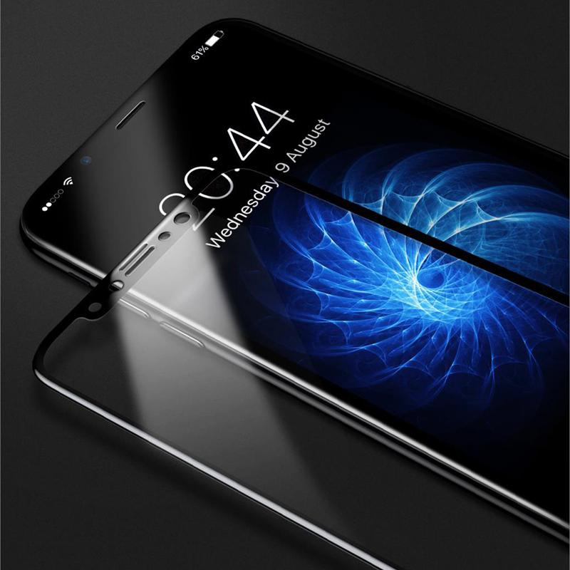 Baseus Front Back Premium Tempered Film 3D Full Cover Rear Toughened Screen Protector Film for Iphone X 8 8plus
