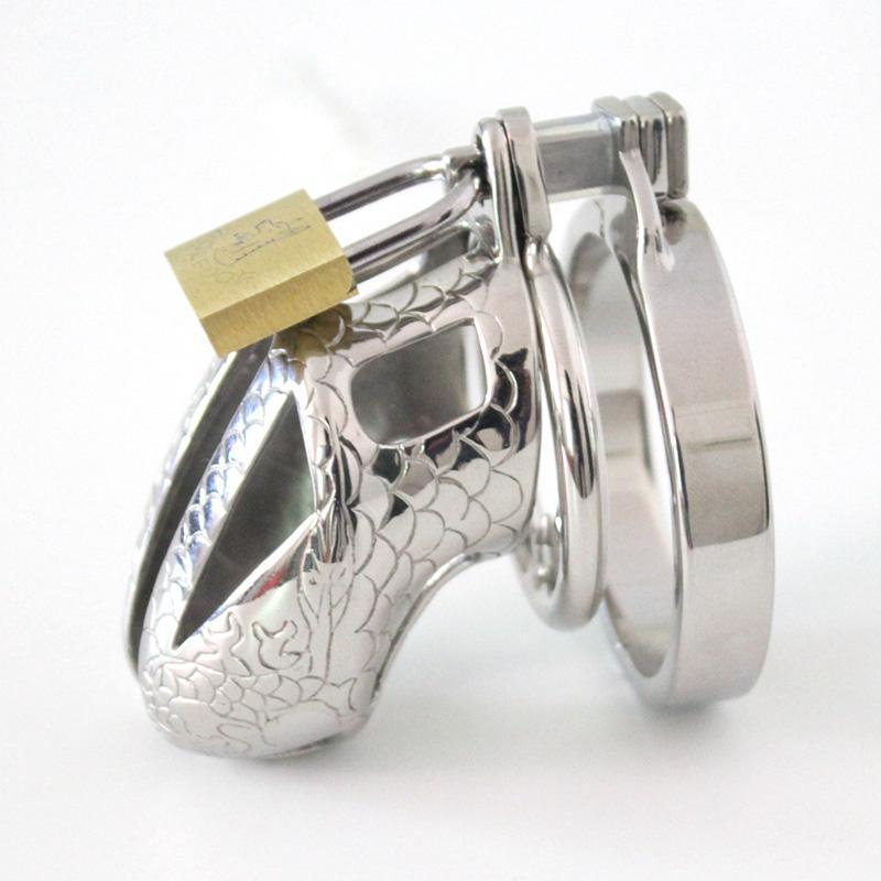 2016 Kleine kuisheidsapparaat metalen kuisheid kooi roestvrij staal cock kooi mannelijke kuisheidsgordel cock ringen speelgoed bondage sex Producten