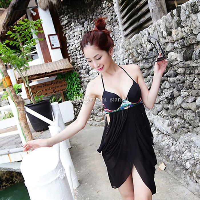 Set da donna Bikini con fascia in vita da donna Costume da bagno imbottito con reggiseno imbottito Costume da bagno costumi da bagno Costumi da bagno due pezzi Swimdress Summer Beach SPA Balneazione WX-S12