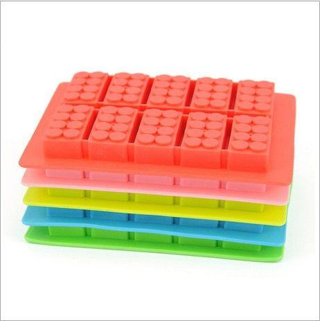 Nova chegada bandeja de cubos de gelo de silício bloco de construção molde fabricante ice cream mold ice moldes cubo bandeja