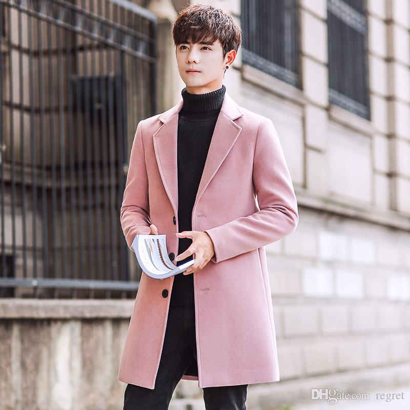 2018 2017 New Winter Coat Men'S Windbreaker Male Korean Sweater ...