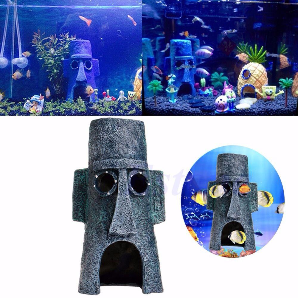 Livraison Gratuite Aquarium Animaux Aquatiques Maison Maison Fish Tank Aménagement Paysager Décoration Ornement
