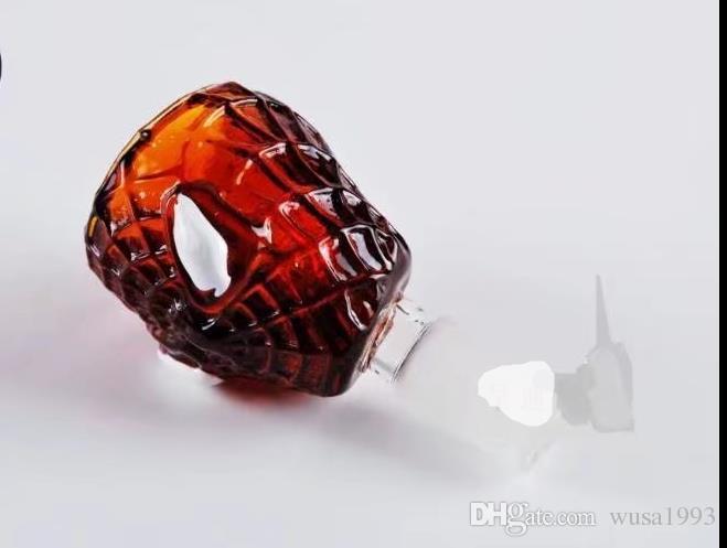 Голова человека-паука, оптовые стеклянные трубки, стеклянные бутылки с водой, курительные принадлежности, бесплатная доставка