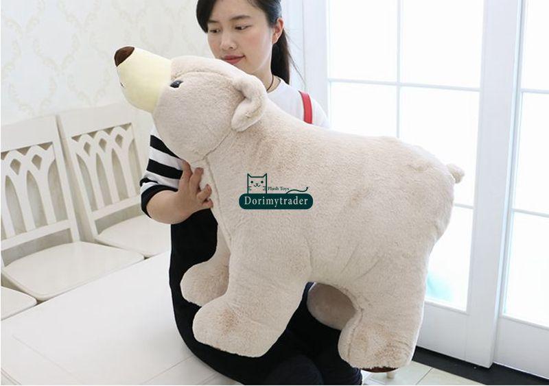 Dorimytrader Large 47'' / 120cm Plush Animal Polar Bear Toy Stuffed Soft Bears Nice Baby Gift DY60128