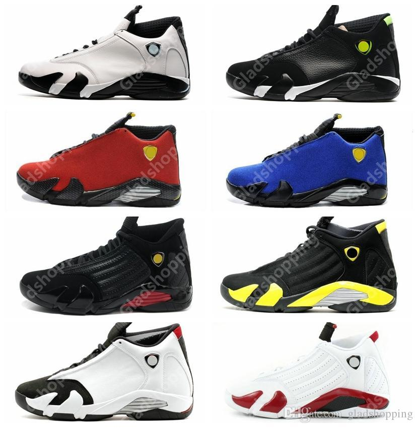 new product 38b8b 2575f 14 XIV Oxidized Green Indiglo Thunder Playoffs Black Toe Red Suede 14s Men  Basketball Shoes Sneaker Last Shot Sport Shoes With Box Basketball Gear ...