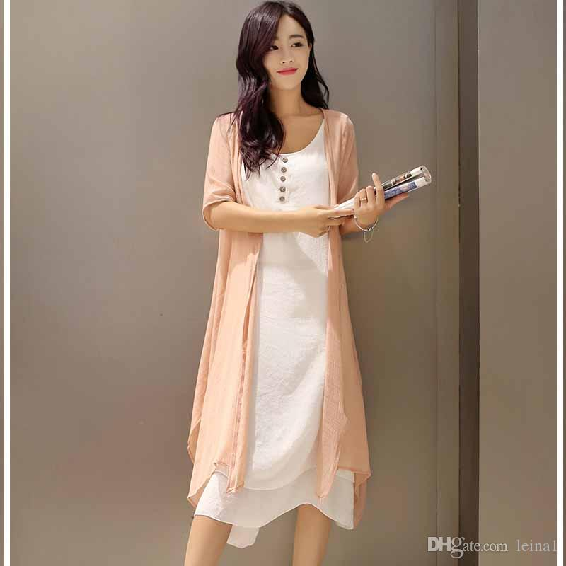 Vestido en lino para mujer