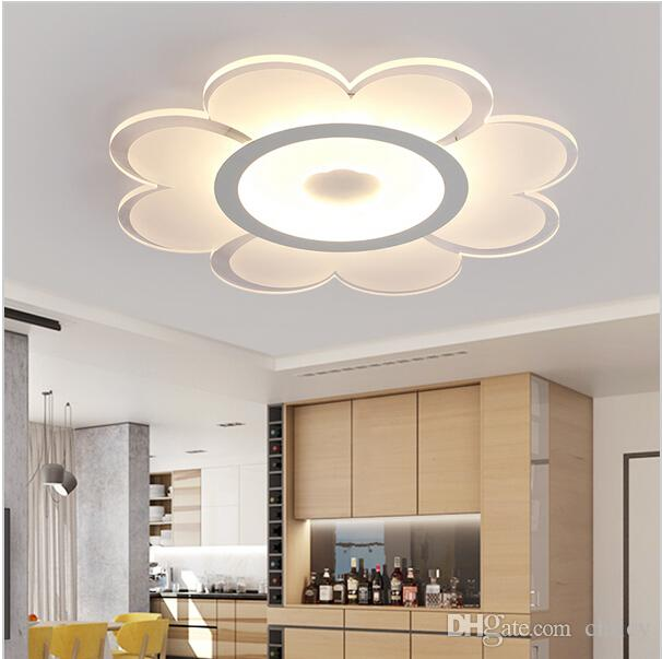 2018 Dimmable Led Ceiling Light Flower Ceiling Chandeliers Ultra Thin  Acrylic Round Ceiling Lamp For Living Room Bedroom Decoration From Chricy,  ...