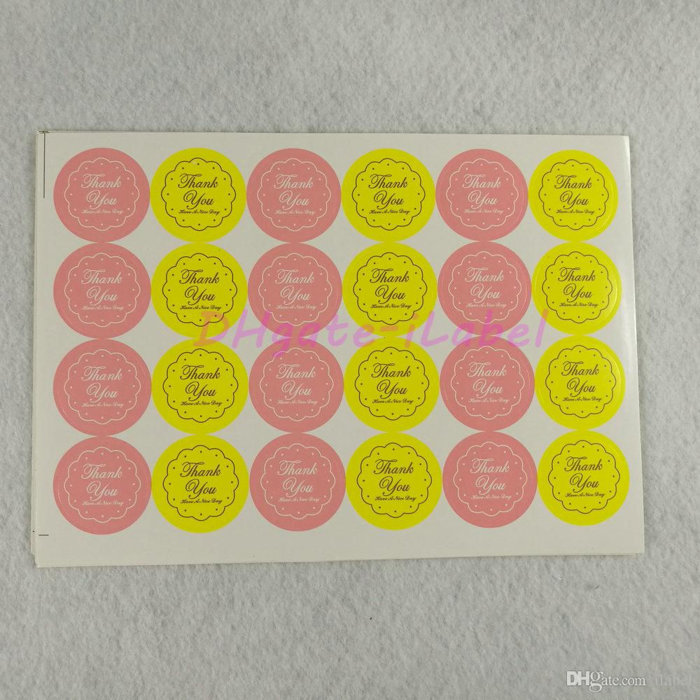 360 PZ Misto Giallo / Rosa GRAZIE Design Sticker 27 * 27mm 1.06