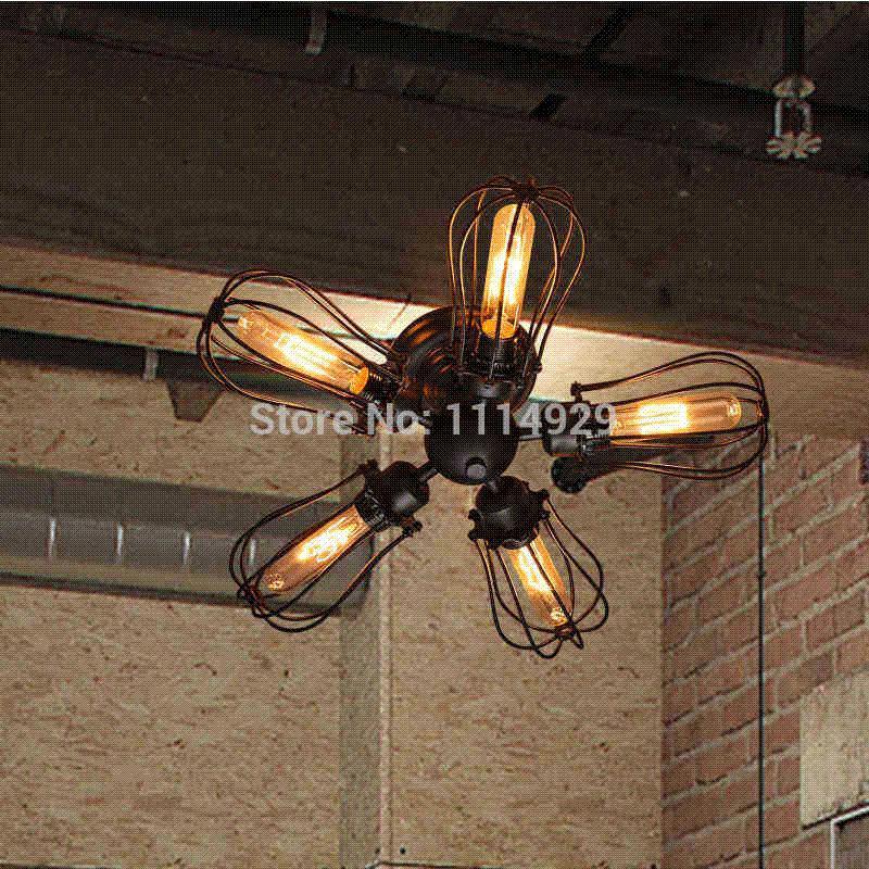 Großhandel Loft Vintage Deckenleuchten Antike Lampen American Style Country  Industrielampe Für Kaffee Zimmer / Bar E27 Edison Glühbirnen Von E123123,  ...