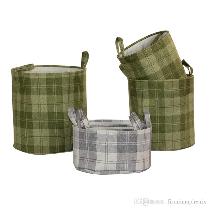 2018 Storage Baskets Green And Gray Storage Bins Stripe Print Utility  Basket Laundry Room Storage Different Capacity From Firmianaphenix, $120.31    Dhgate.